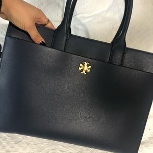 NEW- pre loved Tory Burch blue work bag
